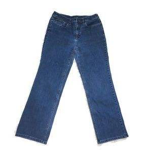 Talbots 8P Blue Wash  Straight Mid Rise Stretch